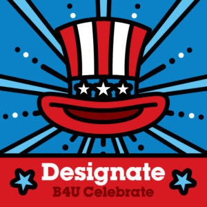 4th of July square image for social media